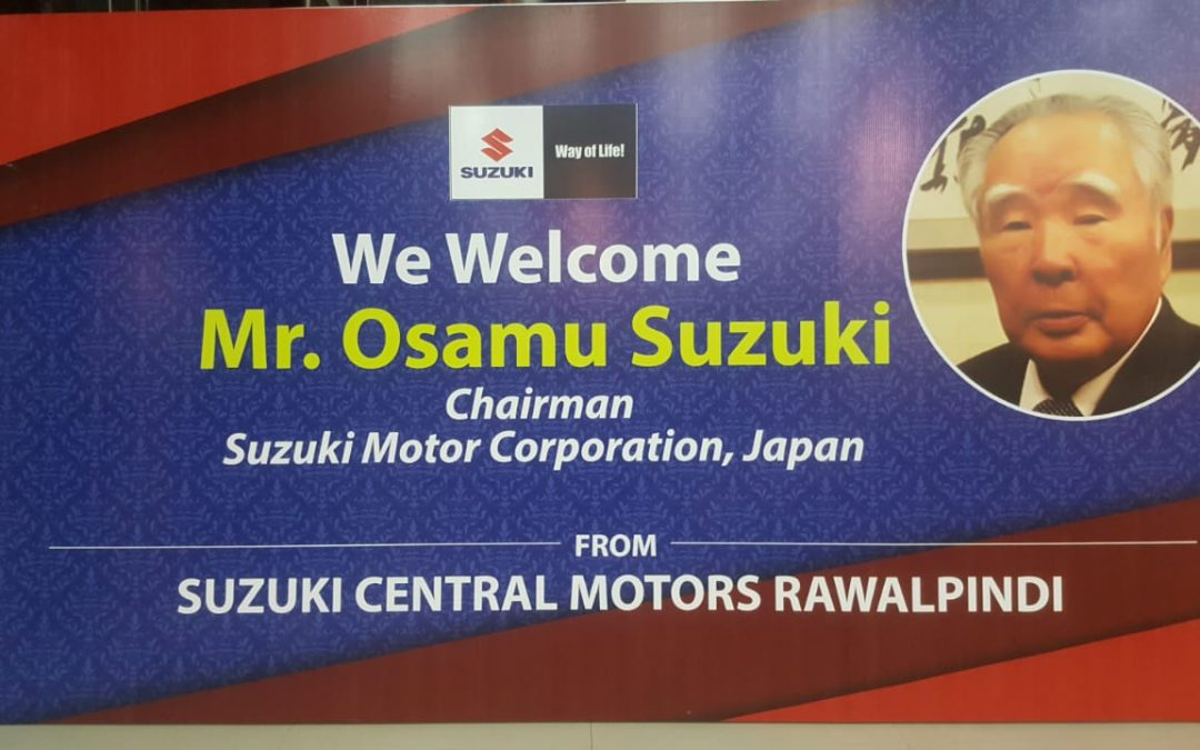 We welcome MR Osamu Suzuki